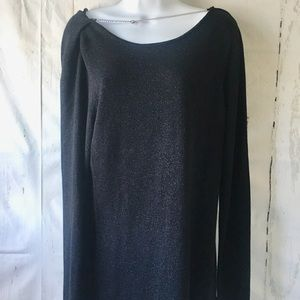Michael Kors Black Shimmery Sweater with Chain